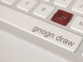 gnogn logo as a key on keyboard