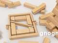 gnogn logo in jenga like wooden blocks